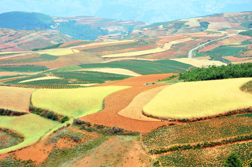 Dongchuan Red Land in Yunnan Province, China