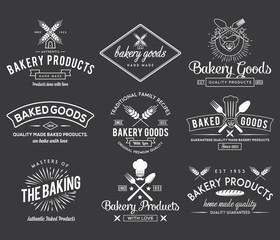 Bakery goods white badges