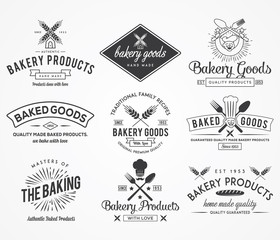 Bakery badges BW