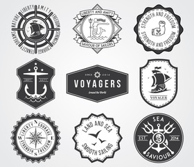 Sea Badges 2 BW