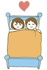 眠るカップル