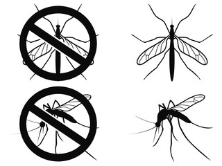 Mosquitoes warning symbol