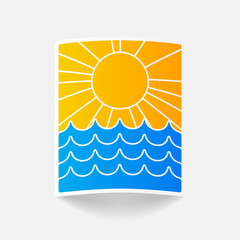 realistic design element: wave