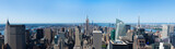 Panoramic aerial view of Manhattan  in New York - USA