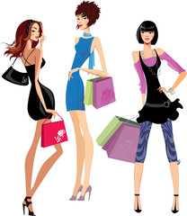 fashion girls shoppin