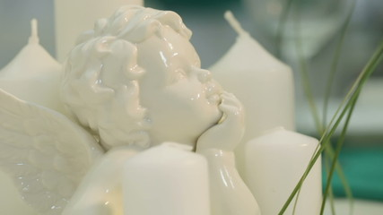 Profile porcelain angel