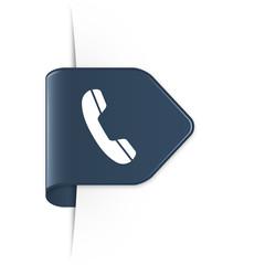 Phone - Dunkelblauer Sticker Pfeil mit Schatten