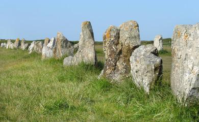 Megalithen in der Bretagne - menhirs en Bretagne