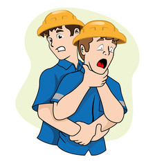 First Aid choke, heimlich maneuver