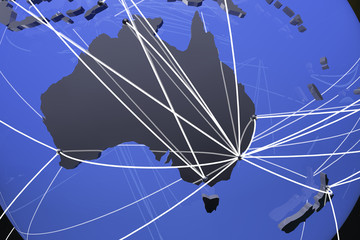 Australia and New Zealand Global Network Connections