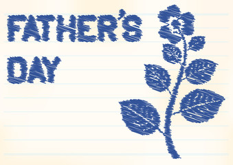 fathers day background with zigzag text and flower