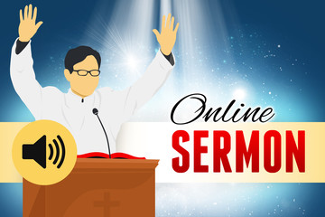 Pastor Online Sermon and Podcast in the Church