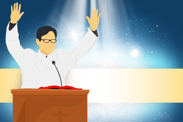 Pastor preaching in the Church