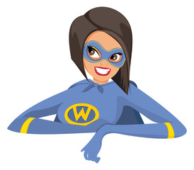 Cartoon female super hero