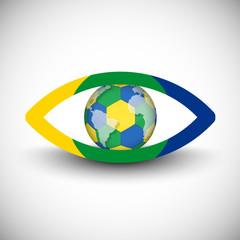 Brazil eye icon