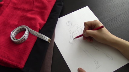 fashion designer drawing