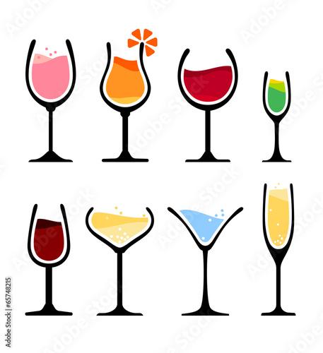 set of wine glass - 65748215