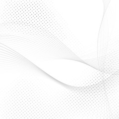 Abstract halftone swoosh lines background