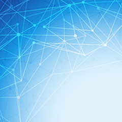 Bright blue molecule abstract intricacy background