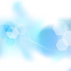 Blue abstract mobile wavy layout