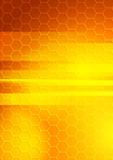 Bright summer hexagon background