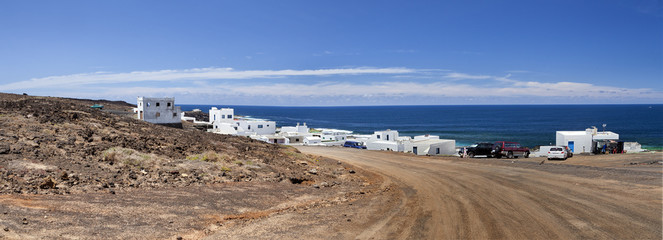 Lanzarote village.National park of Timanfaya.Canary Islands.
