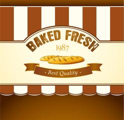 Bakery. loaf, baguette, baked goods, croissant, cupcake, bagel