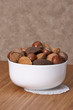 Assorted Whole Nuts In A Bowl