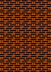Black brick wall.