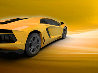 A CG render of a generic luxury sports racing