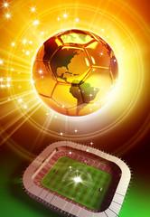 golden ball soccer trophy
