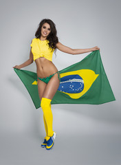 Beautiful and sexy female brazilian soccer player