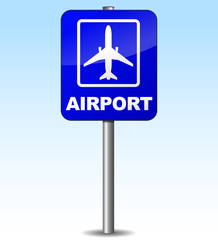 Vector airplane sign for airport