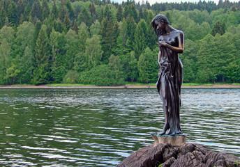 Skulptur am Moldau Stausee