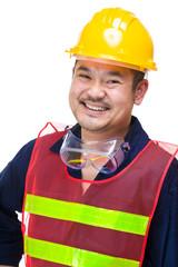 Happy asian engineer