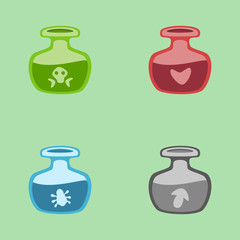 Vector magic potions