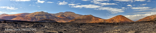 Panorama of Timanfaya. Lanzarote. Canary Islands.