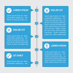 Infographic template banners. Flat design