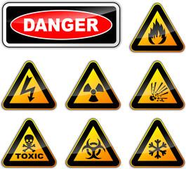 Vector danger signs