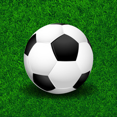 Soccer ball on grass