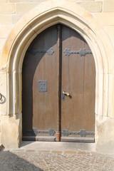 Eine alte Tür im Osnabrücker Rathaus