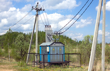 Transformer of rural power supply line in countryside