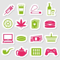 addiction stickers