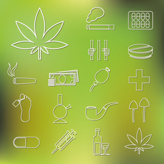 drug outline icons