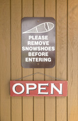 Remove Snow Shoe SIgn