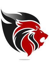 lion logo red