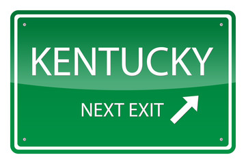 Green road sign, vector - Kentucky