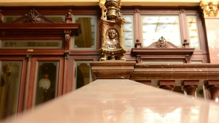 Decorative handrail - a historic building (interior)