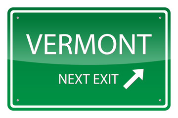 Green road sign, vector - Vermont