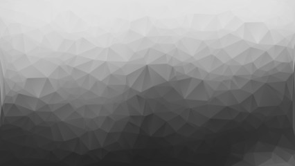 Gray and white abstract polygon triangle background